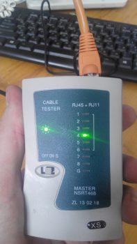 тестер подключен к сетевой карте компьютера