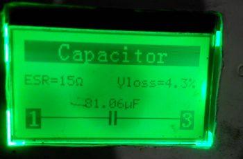 Завышеный ESR конденсатора С510