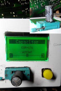 Замеры конденсатора 22мкф на 250в.