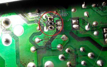 Кольцевая трещина транзистора