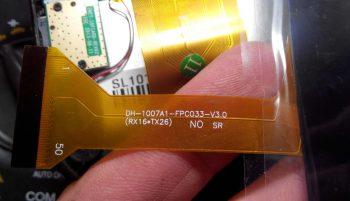Маркировка нового тач скрина DH-1007A1-FPC033-V3.0