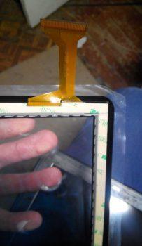 Задняя часть сенсора с двухсторонним скотчем