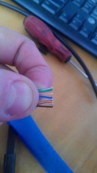 Расстановка проводов
