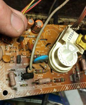 Установленный новый транзистор