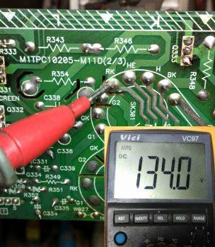 Напряжение после замены транзистора