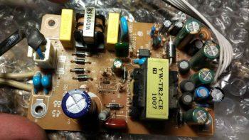Плата с выпаянным шим контроллером
