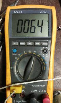 температура транзистора после 10 минут работы