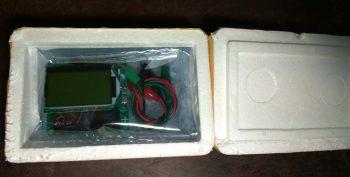 Вскрытие коробка с ESR метром