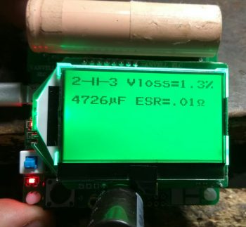 Проверка конденсатора номиналом 4700 мкф