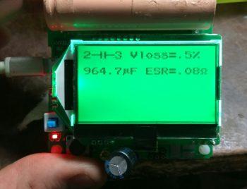Проверка конденсатора номиналом 1000 мкф
