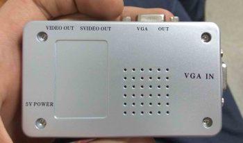 Подписи интерфейсных разъемов находятся на нижней крышке конвертера