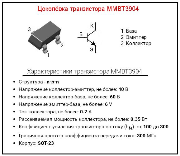 Транзистор MMBT3904